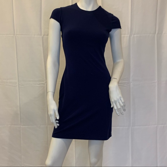 Susana Monaco Dresses & Skirts - Navy blue cap sleeve fitted Susana Monaco dress Sm